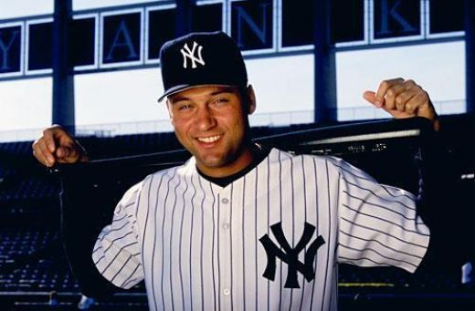 Derek Sanderson Jeter  born June 26, 1974 in Pequannock Township, New Jersey is an American Major League Baseball player. Jeter is a nine-time All-Star shortstop, and he is currently the captain of the New York Yankees.