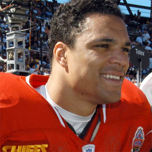 "Anthony ""Tony"" David Gonzalez (born February 27, 1976 in Huntington Beach, California) is an American football tight end for the Kansas City Chiefs of the National Football League. He was drafted by the Chiefs in the first round (13th overall pick) o"