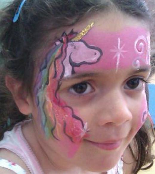 2 Minute Rainbow Unicorn Face Painting Design