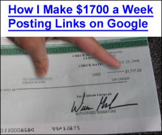 google posting links scam