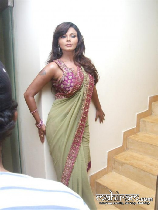 Rakhi sawanth exclusive photo in saree