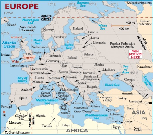 Map Of Europe Greece And Italy