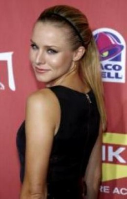 Cute Long High Ponytail from Kristen Bell