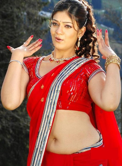 red saree photos of the spicy film actress siya