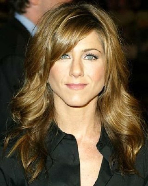 Celebrity Jennifer Aniston sexy long hairstyle