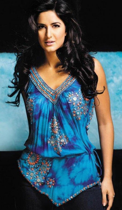 Blue Katrina Kaif