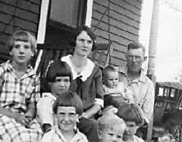 Ren and Cora Martin with their children (Clyde is the baby held by Ren)