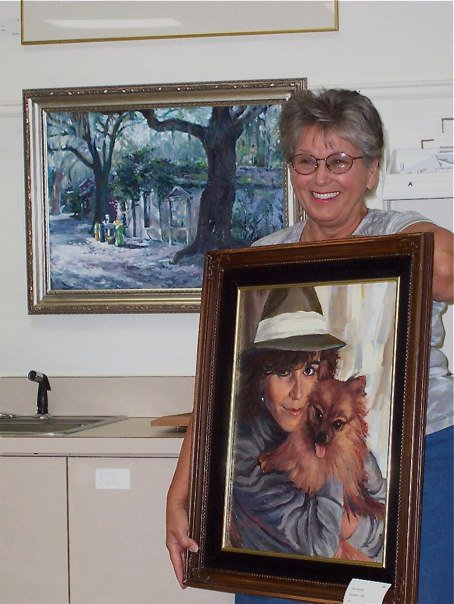 A Portrait and a Landscape displayed by the artist.