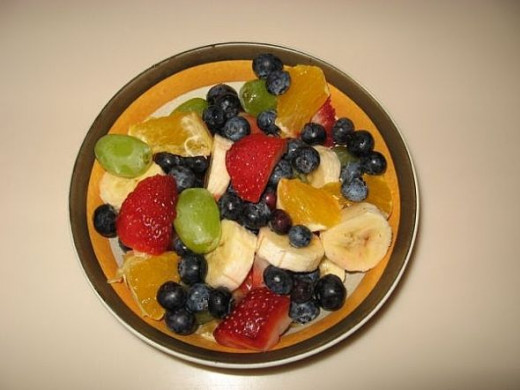 A bowl of fruit starts the day off right.