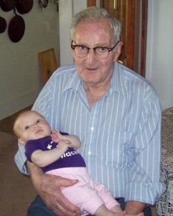 Clyde Martin and great-granddaughter, Alexandra