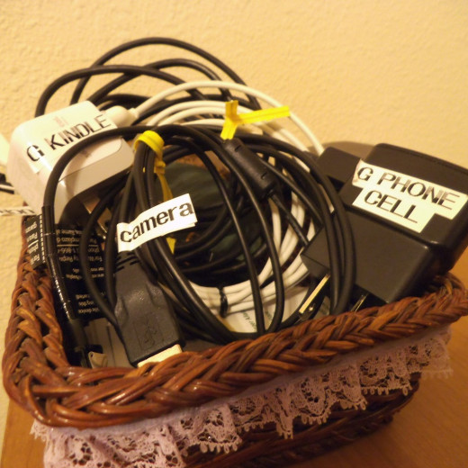 Label the cords for all your gadgets (Kindle, cell phone, digital cameras)