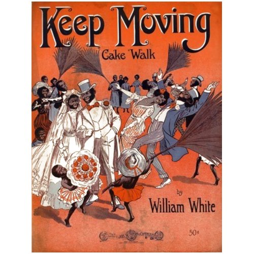 What a joyful graphic for this sheet music. The cakewalk is such an infectious style of music, it makes you want to dance.