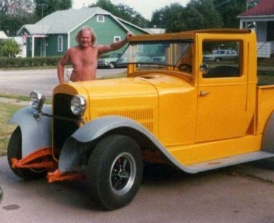 Here's Owen and His Essex - It's Turning Yellow Here, Fenders Not Painted Yet