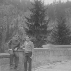 Owen Martin and a friend in Germany