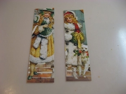 Christmas bookmarks made from cards
