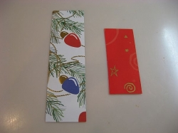 homemade christmas bookmarks - you can make small or large bookmarks