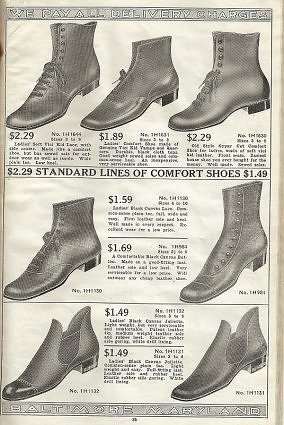 "Labeled ""Comfort Shoes"" - Note the Wider Toe on These Shoes from 1918"