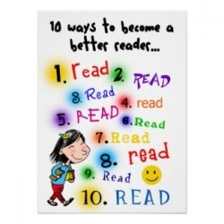 10 Ways to Become a Better Reader - Poster from Zazzle by KatrinaArt
