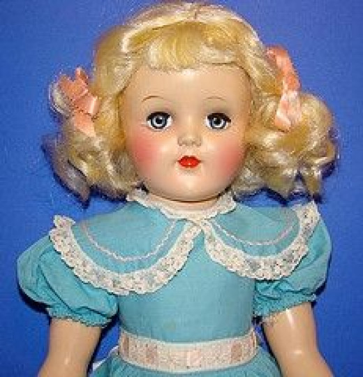 A beautiful 1950s Toni doll.