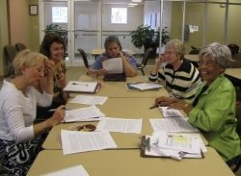 A typical meeting of the Sol-Writers