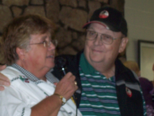 Larry and Cindy Ross at his retirement party in May 2011.