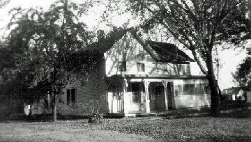 The Ren Martin home in Reading, KS in the 1950s