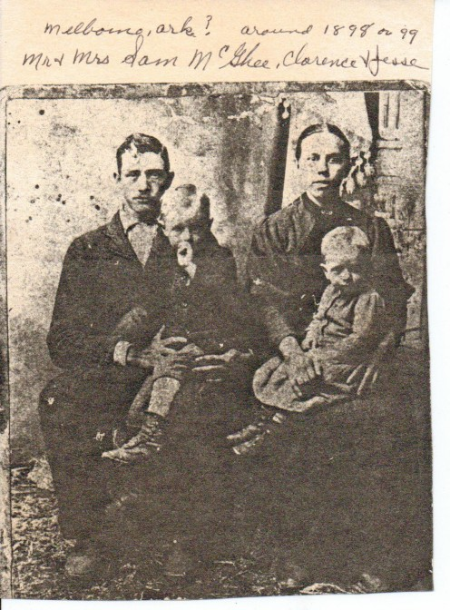 Samuel and Viola Matilda McGhee with their two children, Clarence and Jesse.