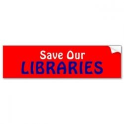 Great bumpersticker for the Friends of the Library to sell to raise funds.