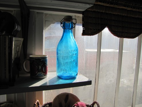 This bottle appealed to Mom for the vivid blue color.