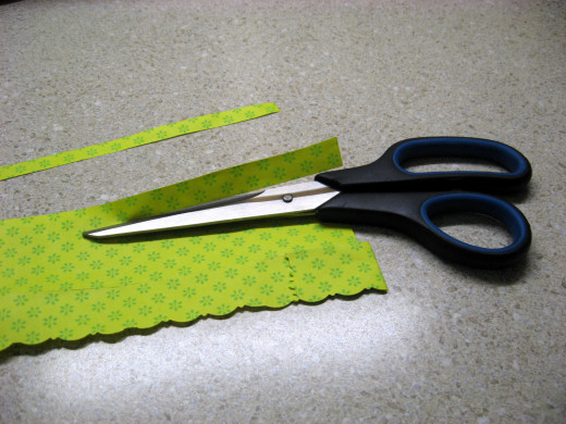 Look what you can do with special scissors. These are available at craft stores or places like Walmart.