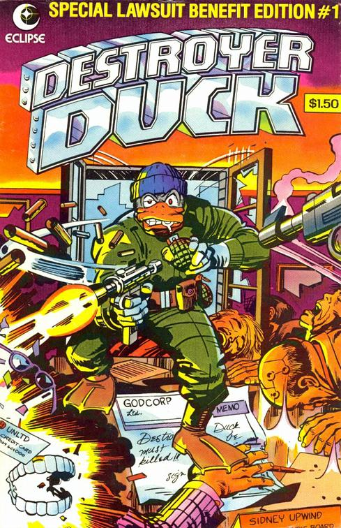 Written by Steve Gerber and illustrated by Jack Kirby, Destroyer Duck was initially created to raise money for Gerber's lawsuit against Marvel.