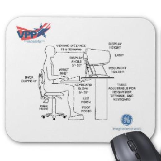 Proper computer ergonomics.