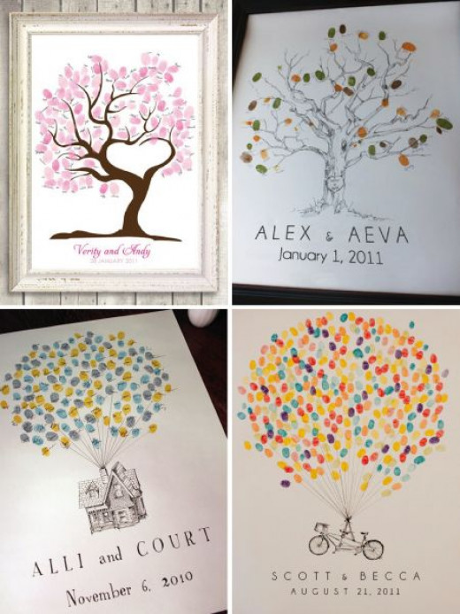 Fingerprint guestbook ideas from Pinterest