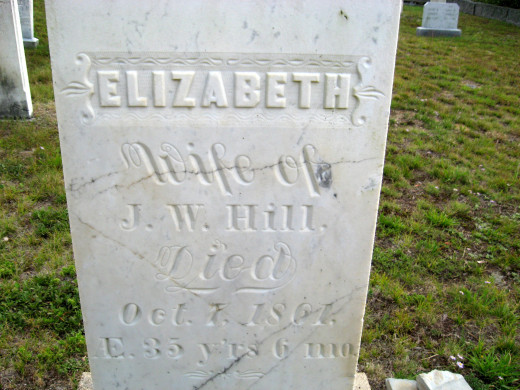 Elizabeth (wife of J.W. Hill)