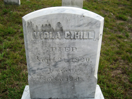 Viola C. Hill (details from ancestry.com: middle name Cora, daughter of Asa and Matilda Hill)