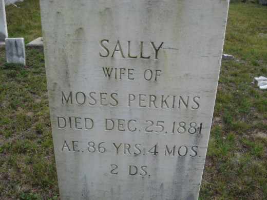 Sally (wife of Moses Perkins)