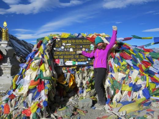Thorong Laa Pass in Annapurna Himalayas 5400m