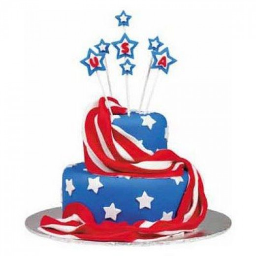 tiered 4th of july cake