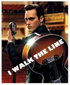 Joaquin Phoenix as Johnny Cash in Walk the Line
