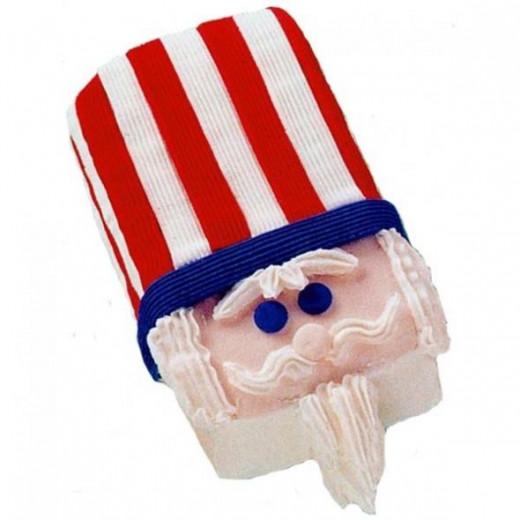 uncle sam patriotic cake