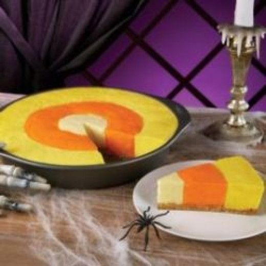 Halloween Desserts: Candy Corn Cheesecake