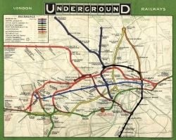 Map of the London Underground