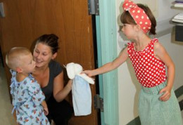 [Photo: Wish.org] -- Tracy Lauren (cancer, age 4) wishes to give back comfort and hope.
