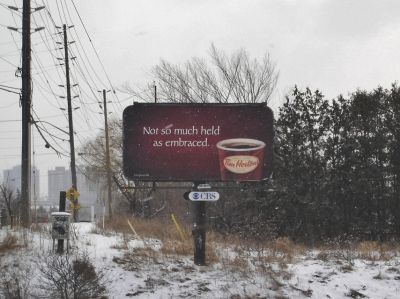 Not so much held as Embraced - 2007 Tim Hortons