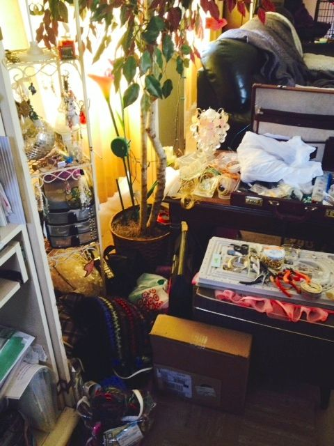 My jewelry work area to the right of my desk
