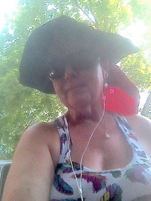 """The """"real me?"""" Here it is! I'm wired, bluetoothed, sun protected, and off to garden! Around June 2012."""