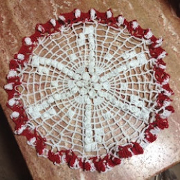 Candy Canes Doily