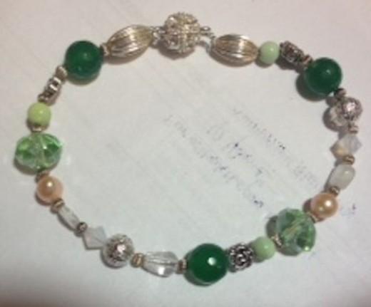 The Greens set features adventurine, emerald, jade, quartz, and more!