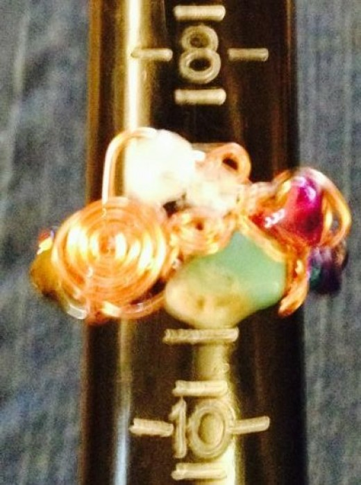 Green opal and garnet