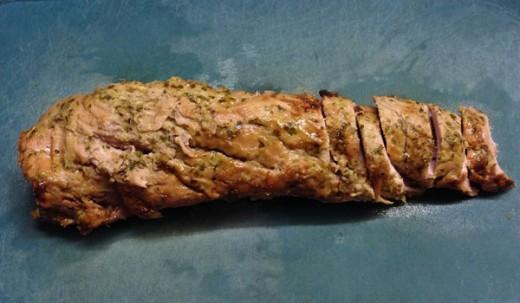 Oven roasted marinated pork tenderloin